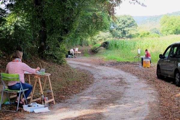 schilderworkshop, Ardennen, camping Les Murets